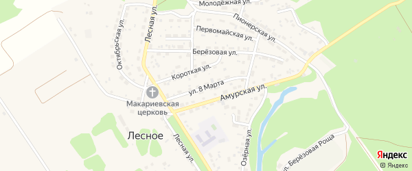 Улица 8 Марта на карте Лесного села с номерами домов