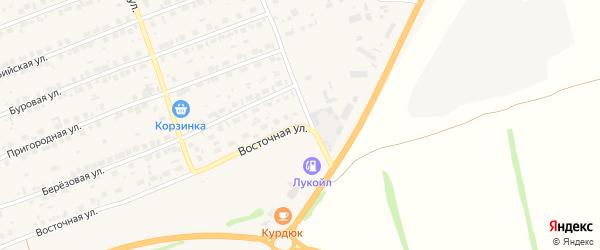 Октябрьская улица на карте Первомайского села с номерами домов