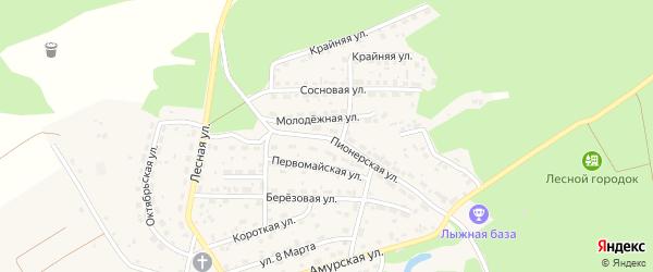 Пионерская улица на карте Лесного села с номерами домов