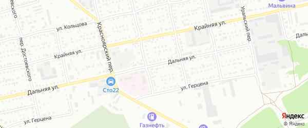 Дальняя улица на карте Бийска с номерами домов
