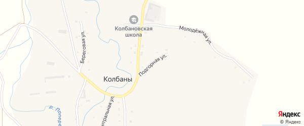 Подгорная улица на карте села Колбаны с номерами домов