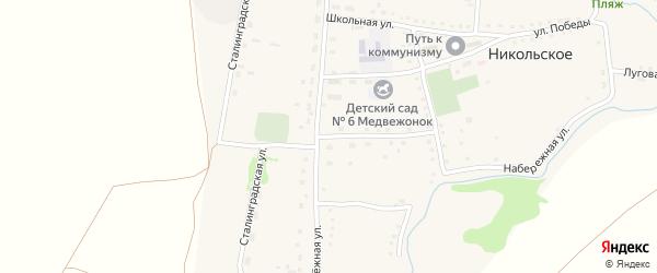 Улица Тырышкина на карте Никольского села с номерами домов