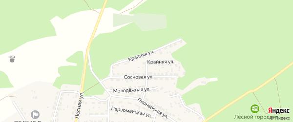 Крайняя улица на карте Лесного села с номерами домов