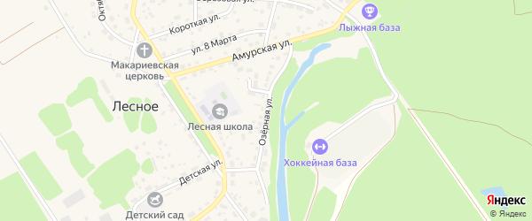 Озерная улица на карте садового некоммерческого товарищества Радуги с номерами домов