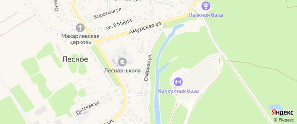 Озерная улица на карте садового некоммерческого товарищества Журавушки с номерами домов