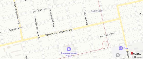 Центральный переулок на карте Бийска с номерами домов
