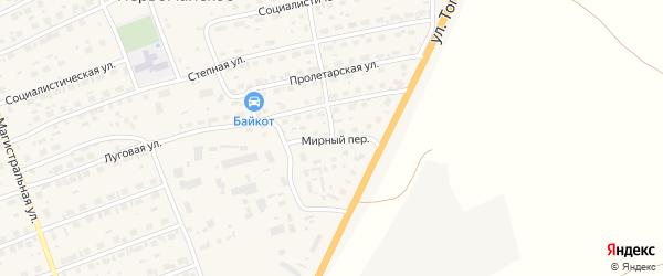 Мирный переулок на карте Первомайского села с номерами домов