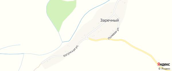 Катунская улица на карте Заречного поселка с номерами домов