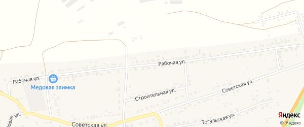 Рабочая улица на карте Первомайского села с номерами домов