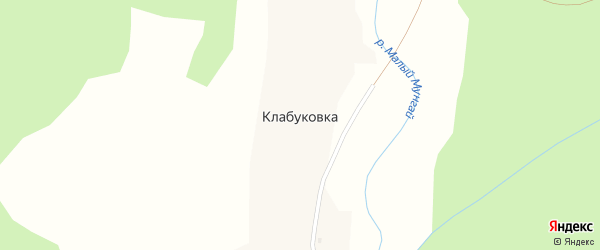 Лесная улица на карте села Клабуковки с номерами домов