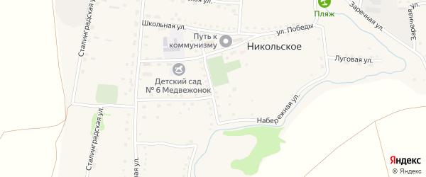 Почтовая улица на карте Никольского села с номерами домов