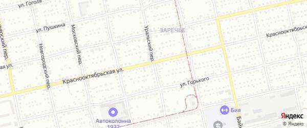 Уральский переулок на карте Бийска с номерами домов
