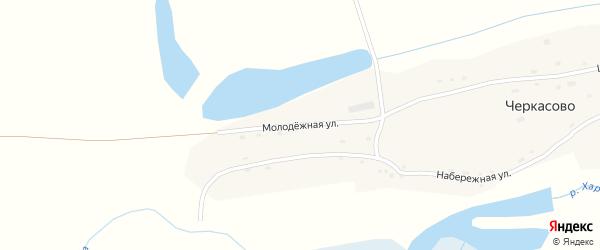 Молодежная улица на карте села Черкасово с номерами домов