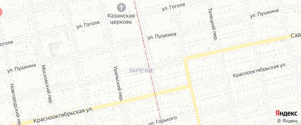 Свердловский переулок на карте Бийска с номерами домов