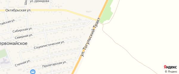 Улица Тогульский Тракт на карте Первомайского села с номерами домов