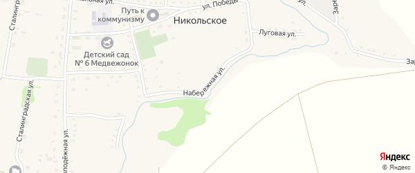 Набережная улица на карте Никольского села с номерами домов