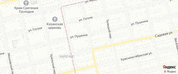 Байкальский переулок на карте Бийска с номерами домов