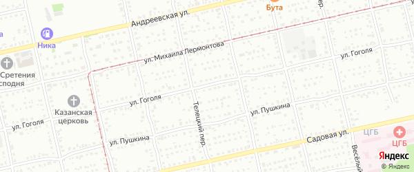 Улица Николая Гоголя на карте Бийска с номерами домов