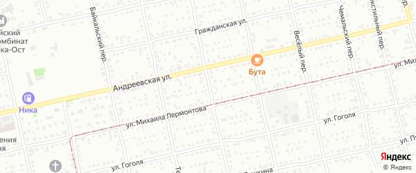 Улалинский переулок на карте Бийска с номерами домов