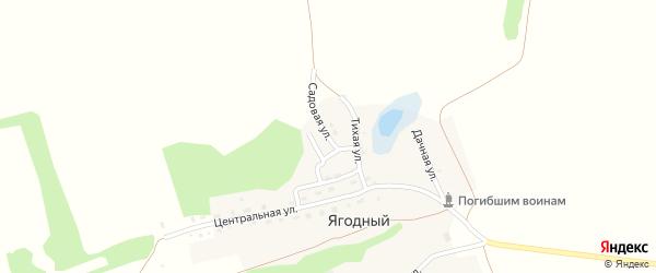 Садовая улица на карте Ягодного поселка с номерами домов