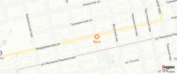 Андреевская улица на карте Бийска с номерами домов