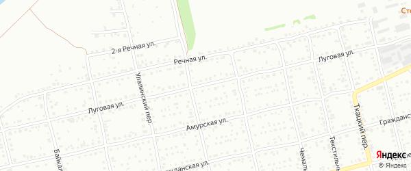 Луговая улица на карте Бийска с номерами домов
