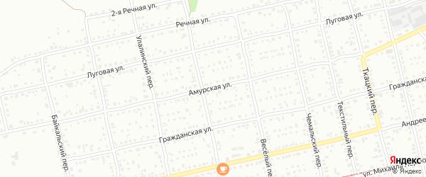 Амурская улица на карте Бийска с номерами домов