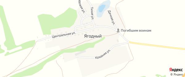 Дачная улица на карте Ягодного поселка с номерами домов