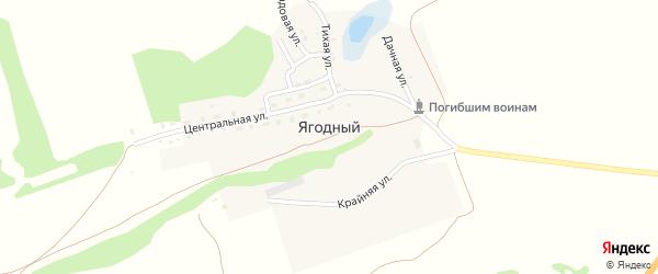 Центральная улица на карте Ягодного поселка с номерами домов