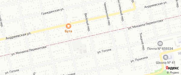 Весёлый переулок на карте Бийска с номерами домов