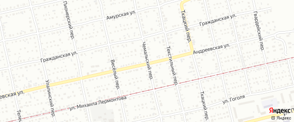 Чемальский переулок на карте Бийска с номерами домов