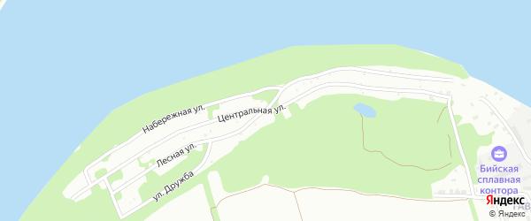 3-й квартал на карте садового некоммерческого товарищества Бии с номерами домов