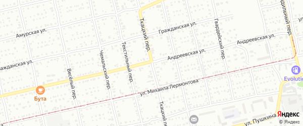 Ткацкий переулок на карте Бийска с номерами домов