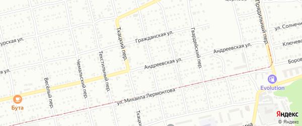 Улица 15 Гвардейской Кавалерийской Дивизии на карте Бийска с номерами домов