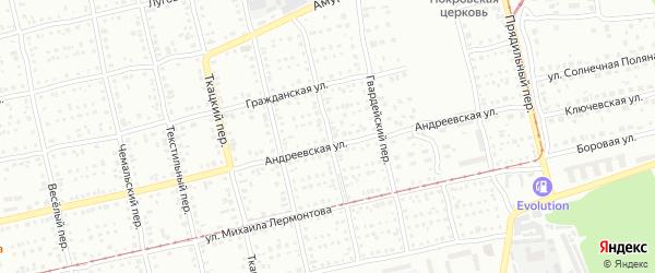 Гончарный переулок на карте Бийска с номерами домов