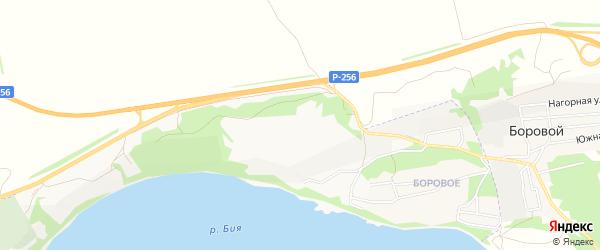 Карта садового некоммерческого товарищества Бии города Бийска в Алтайском крае с улицами и номерами домов