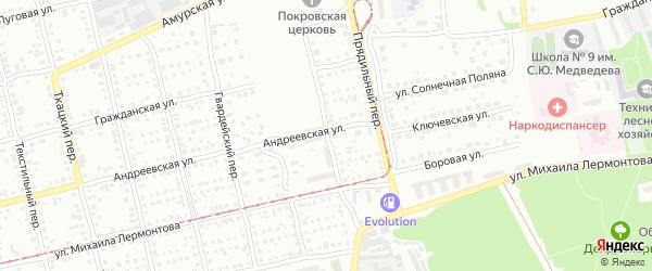 Челночный переулок на карте Бийска с номерами домов
