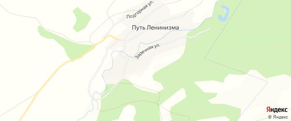 Карта поселка Пути Ленинизма в Алтайском крае с улицами и номерами домов