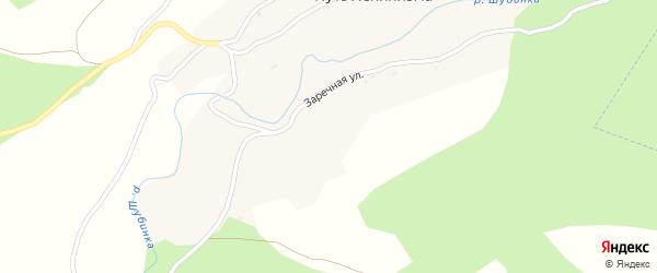 Луговая улица на карте поселка Пути Ленинизма с номерами домов