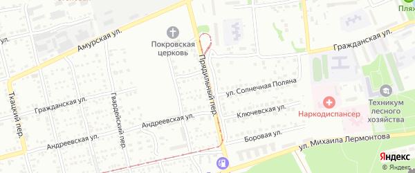 Прядильный переулок на карте Бийска с номерами домов