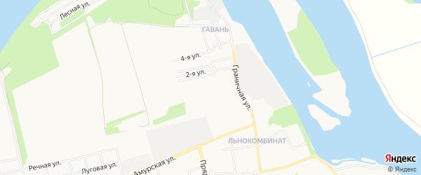 Карта садового некоммерческого товарищества Текстильщика города Барнаула в Алтайском крае с улицами и номерами домов