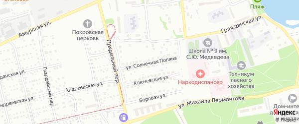 Улица Солнечная поляна на карте Бийска с номерами домов