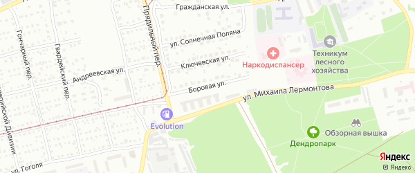 Боровая улица на карте Бийска с номерами домов