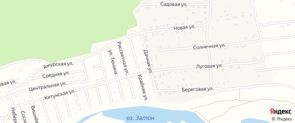 Дачная улица на карте Амурского садового некоммерческого товарищества с номерами домов