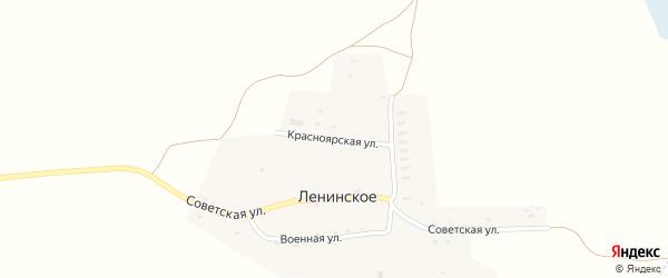 Красноярская улица на карте Ленинского села с номерами домов