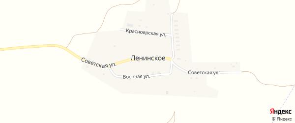 Военная улица на карте Ленинского села с номерами домов