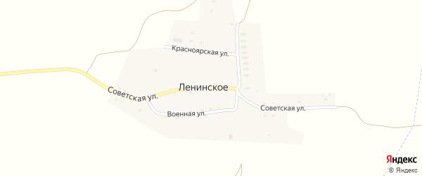 Советская улица на карте Ленинского села с номерами домов