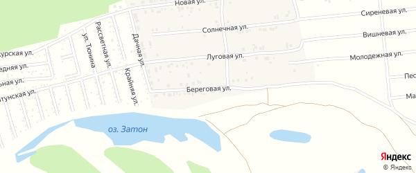 Береговая улица на карте Амурского поселка с номерами домов