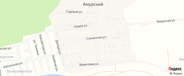 Солнечная улица на карте садового некоммерческого товарищества Радуги с номерами домов