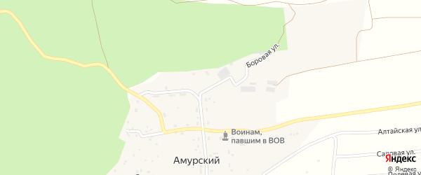 Боровая улица на карте Амурского поселка с номерами домов